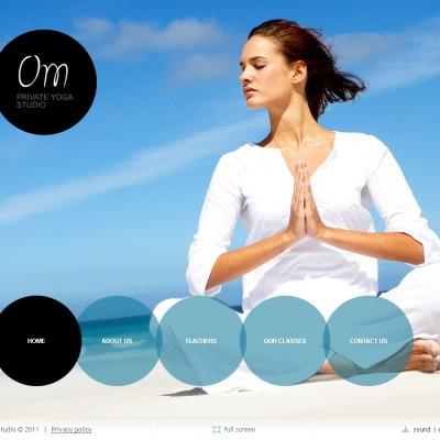 Plantilla SWiSH #34880 para Sitio de Yoga