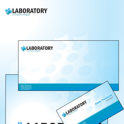Science Lab Corporate Identity Template