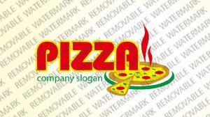Logo Vorlage für Pizza