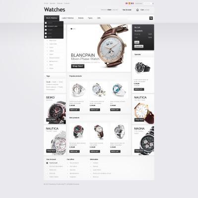 Facebook Flash CMS Template für Uhren