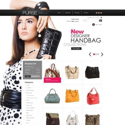 Facebook Flash CMS Template für Handtasche