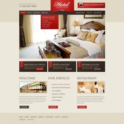 Plantilla Web #38839 para Sitio de Hoteles