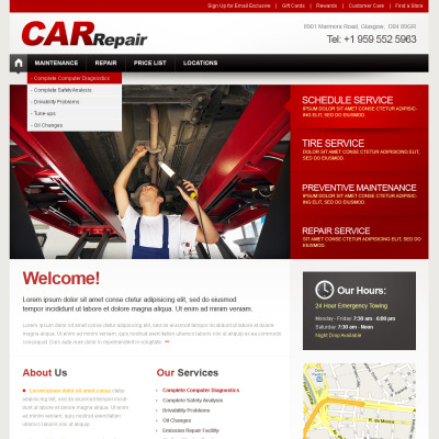 Car Repair Flash CMS Template
