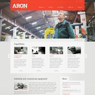 Plantilla Web #38973 para Sitio de Industria