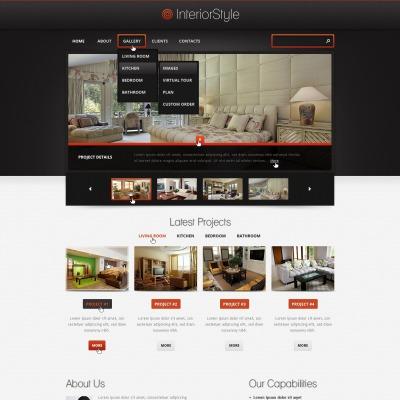 Plantilla Web #39244 para Sitio de Diseño interior
