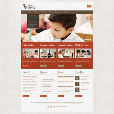 Website Vorlage für Religionsschule