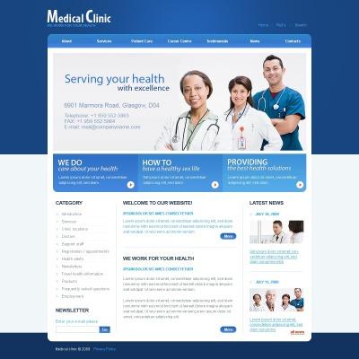 Facebook Flash CMS Template für Medizin
