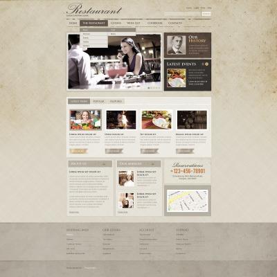 Facebook Flash CMS Template für Cafe und Restaurant