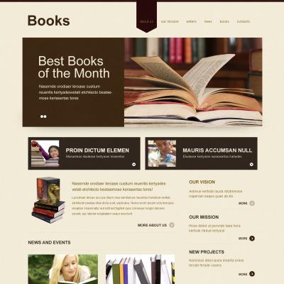 Modèle Moto CMS HTML  pour sites de critiques de livres