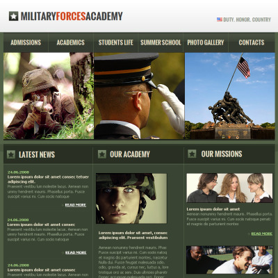 Military Facebook HTML CMS Template