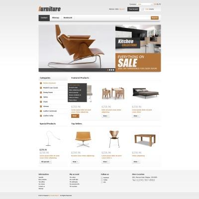 Szablon PrestaShop #42499 na temat: meble i wyposażenie wnętrz