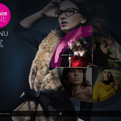 Template Flash CMS №42910 para Sites de Moda
