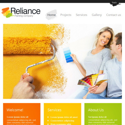 Painting Company Facebook HTML CMS Template