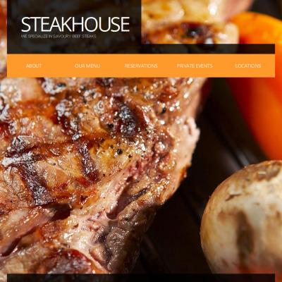 Steakhouse Facebook HTML CMS Template