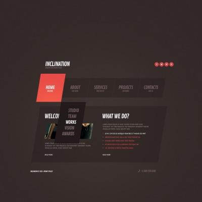 Website Vorlage für Designstudio