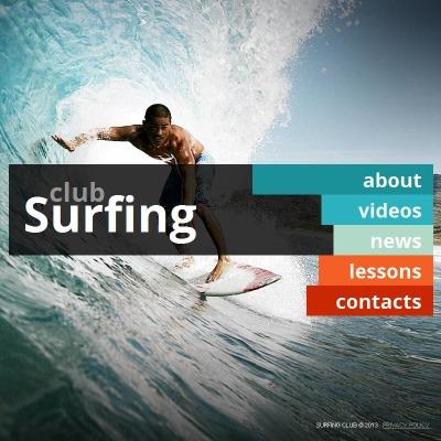 Surfing Facebook HTML CMS Şablon