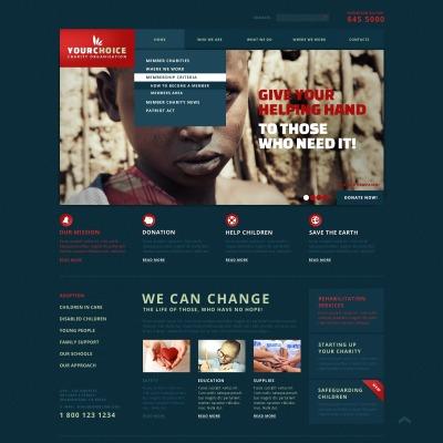 Website Vorlage für Wohltätigkeit