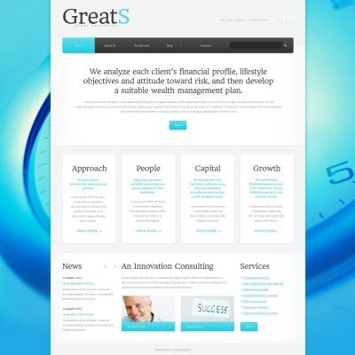 Website Vorlage für Buchhaltung Website