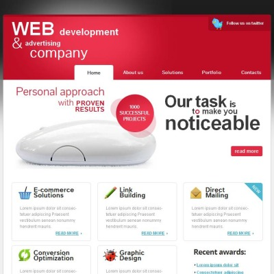 SEO Website Facebook HTML CMS šablona