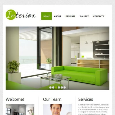 Interior Design Facebook HTML CMS Template