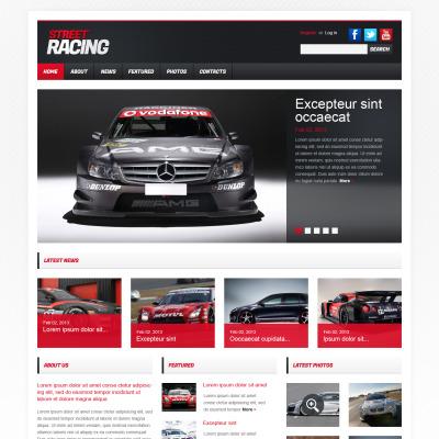 Car Racing Flash CMS模板