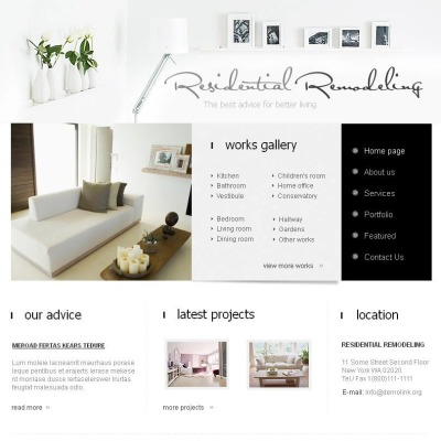 Home Remodeling Facebook HTML CMS Template