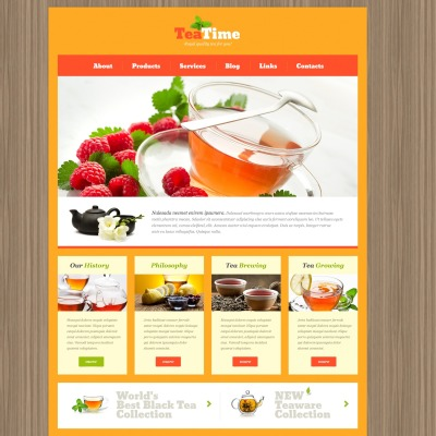 Tea Shop Responsive WordPress Theme