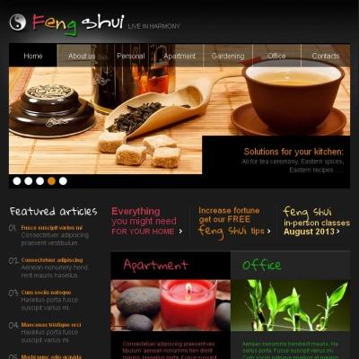 Feng Shui Facebook HTML CMS Template