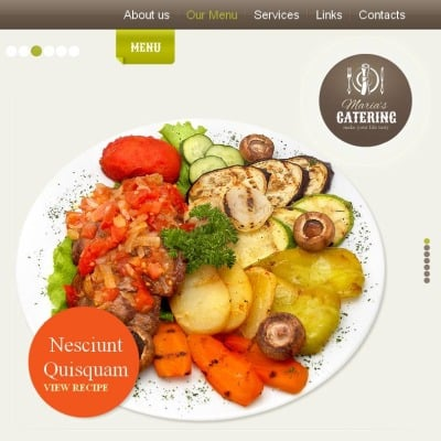 Catering Tema Facebook HTML CMS
