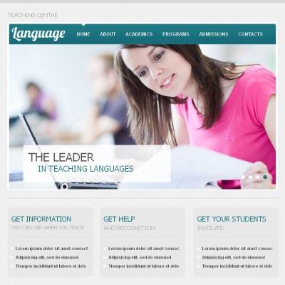 Language School Facebook HTML CMS Template