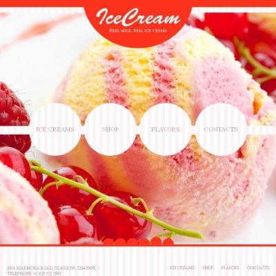 Ice Cream Tema Facebook HTML CMS