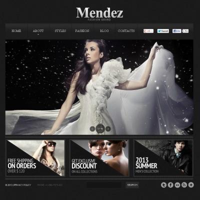 Template Flash CMS №46059 para Sites de Blog de Moda