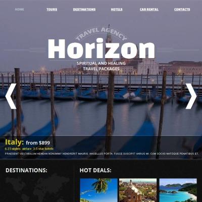 Facebook HTML CMS Vorlage für Reisebüro