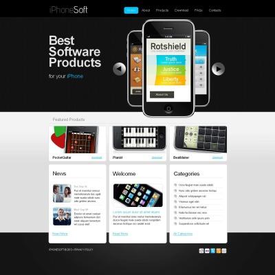 Software Company Moto CMS HTML šablona