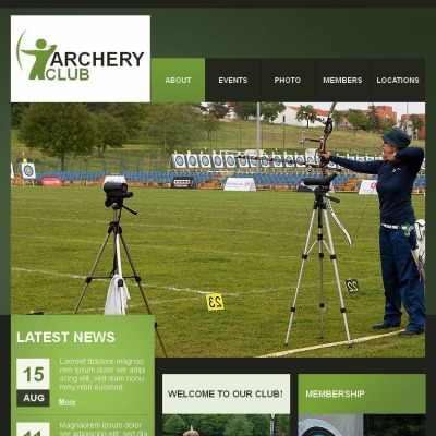 Archery Facebook HTML CMS Template