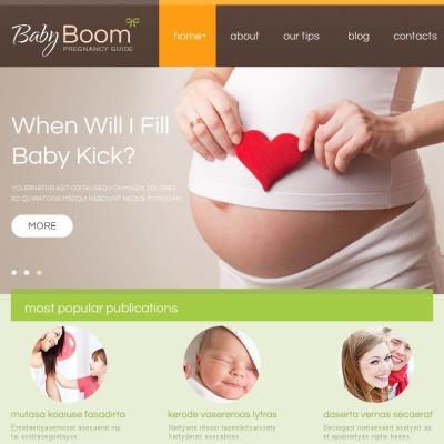 Facebook HTML CMS Vorlage für Schwangerschaft