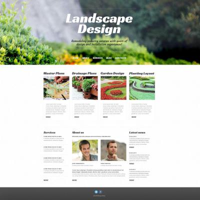 Landscape Design Responsive WordPress Theme