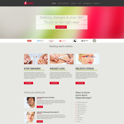 Responsives WordPress Theme für Psychologe