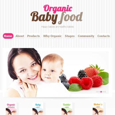 Facebook HTML CMS Vorlage für Lebensmittelgeschäft