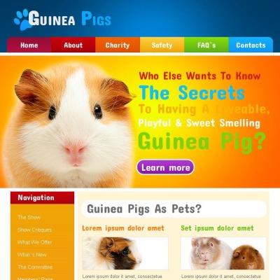 Guinea Pigs Facebook HTML CMS Template