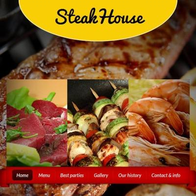 Facebook HTML CMS Vorlage für Steakhaus