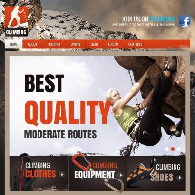 Plantilla Facebook HTML CMS #46959 para Sitio de Alpinismo