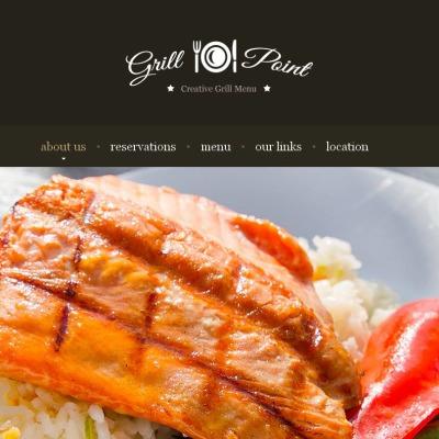 Facebook HTML CMS Vorlage für BBQ Restaurant