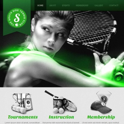 Plantilla Facebook HTML CMS #47046 para Sitio de Tenis
