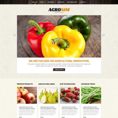 Vegetable Responsive Joomla Template