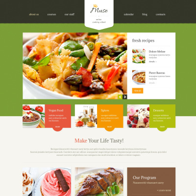 Cooking Responsive WordPress Sablon