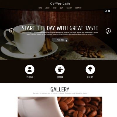 Coffee Shop Responsive Joomla Template
