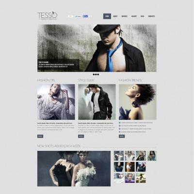 Template Flash CMS №48119 para Sites de Blog de Moda