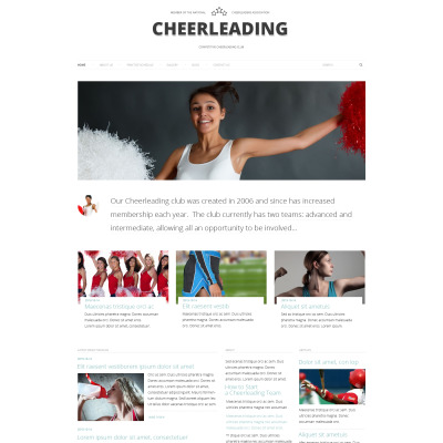 Cheerleading Responsive WordPress Theme