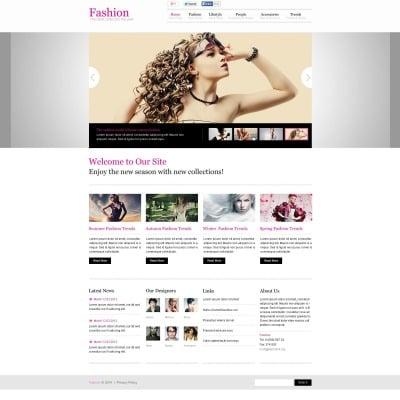 Template Flash CMS №48370 para Sites de Blog de Moda
